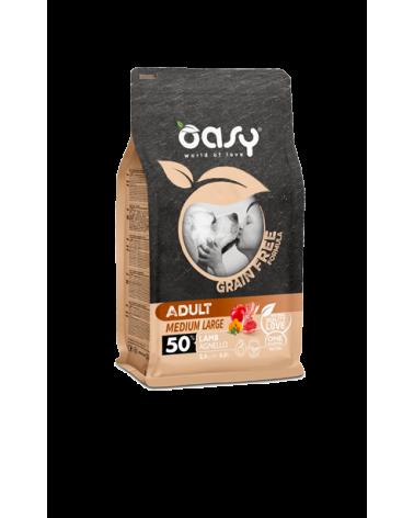 Oasy Dog Grain Free Adult Medium e Large Agnello Fresco 12 kg
