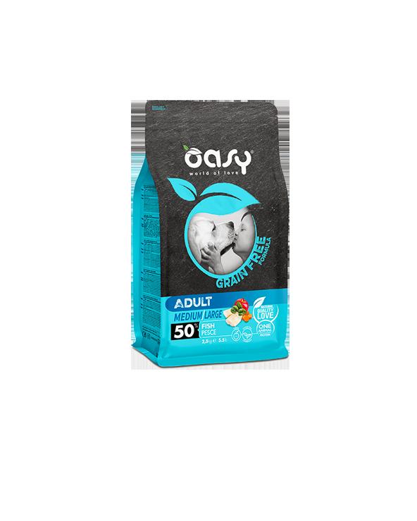 Oasy Dog Grain Free Adult Medium e Large Pesce Fresco 12 kg