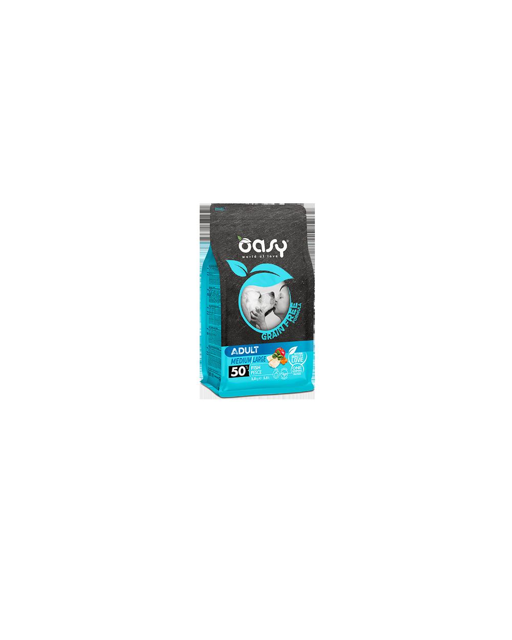 Oasy Dog Grain Free Adult Medium e Large Agnello 2.5 kg