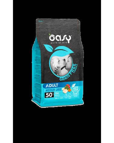Oasy Dog Grain Free Adult Medium e Large Pesce Fresco 2.5 kg