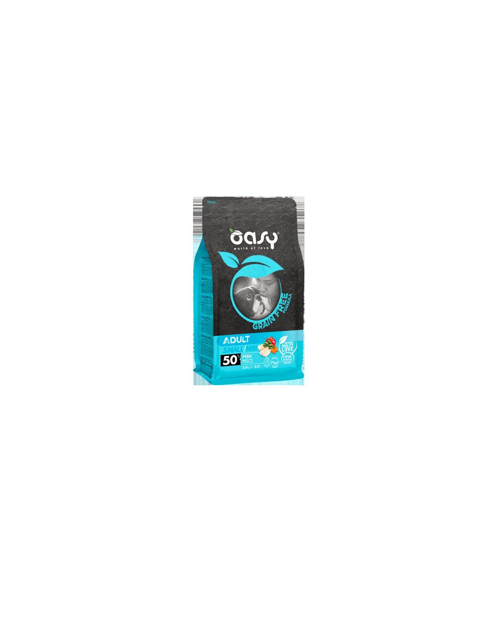 Oasy Dog Grain Free Adult Small e Mini Pesce Fresco 2.5 kg