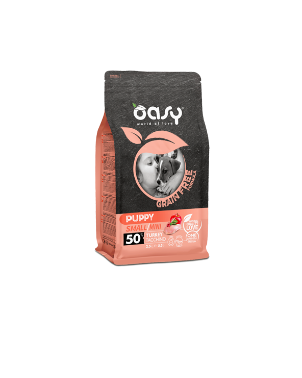 Oasy Dog Grain Free Puppy e Junior Small e Mini Tacchino Fresco 2.5 kg