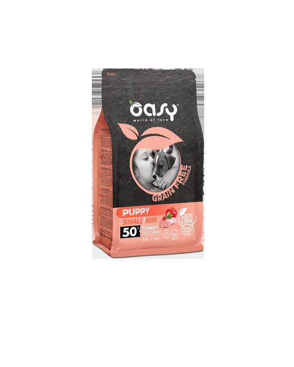 Oasy Dog Grain Free Adult Small e Mini Tacchino Fresco 2.5 kg