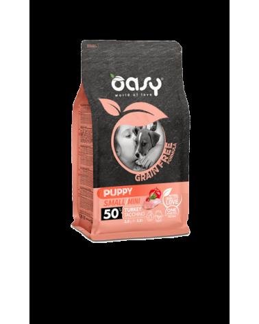 Oasy Dog Grain Free Puppy e Junior Small e Mini Tacchino Fresco 800 g