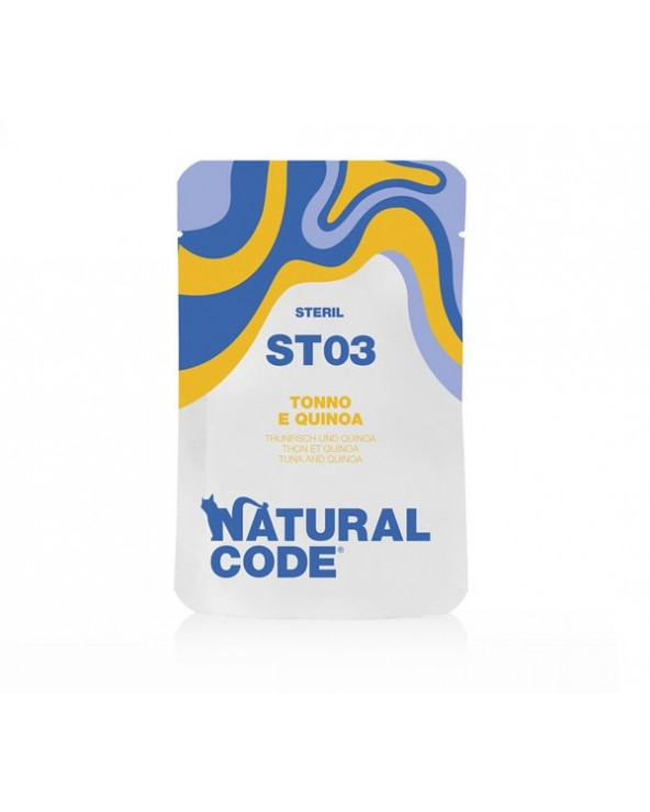 Natural Code Cat Pouches ST03 Sterilized Tonnetto e Quinoa Bustina 70 g