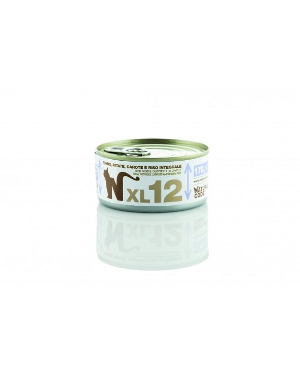 Natural Code Cat XL 12 Tonno Patate Carote e Riso Integrale 170 g