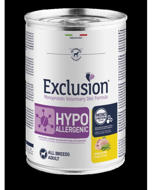 Exclusion Diet Hypoallergenic Quaglia e Piselli Umido