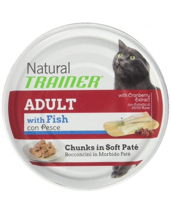 Natural Trainer Cat Bacconcini in Patè Adult con Pesce Lattina 85 g