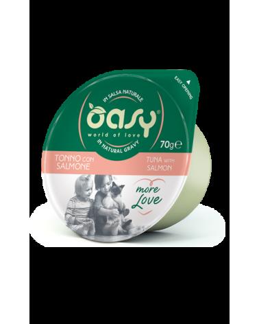 Oasy Wet Cat More Love Green Cup - Tonno con Salmone