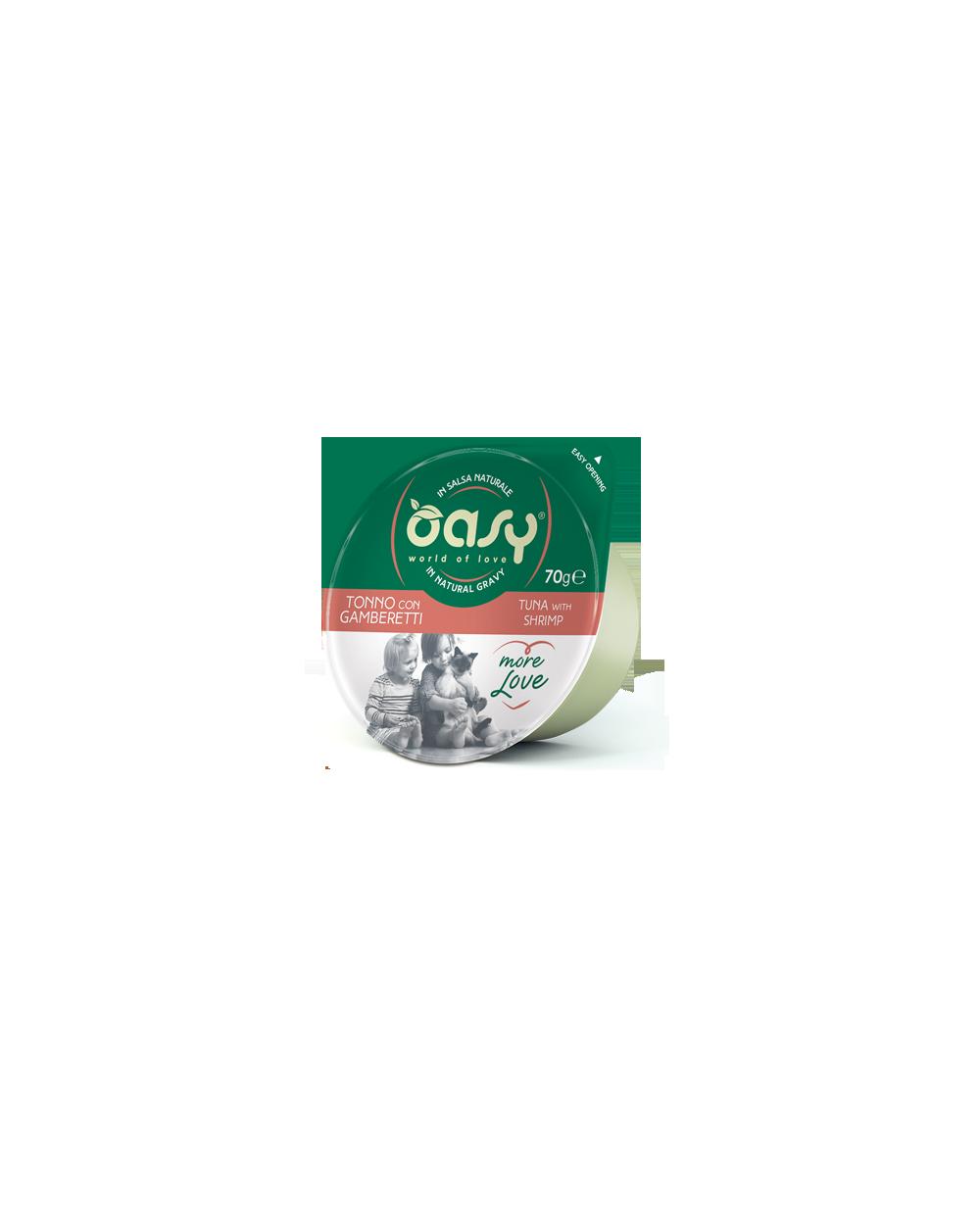 Oasy Wet Cat More Love Green Cup - Tonno con Gamberetti