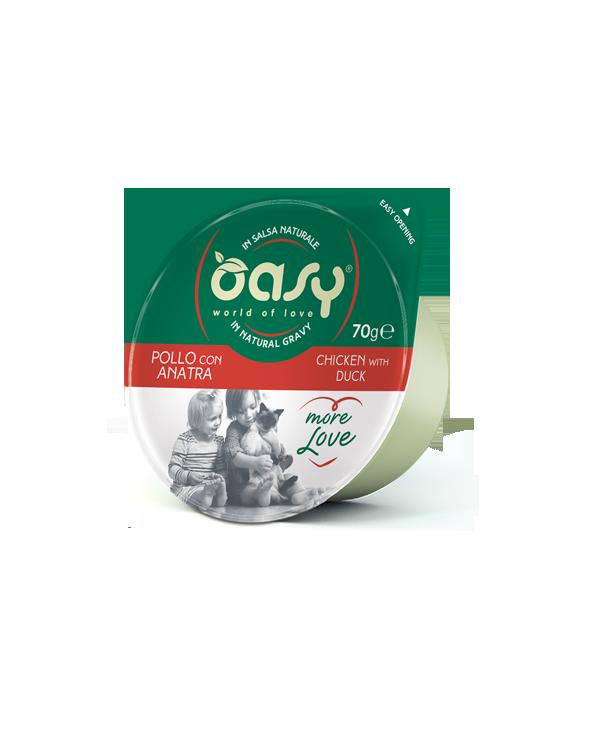 Oasy Cat More Love Pollo con Anatra Cup in Salsa 70 g