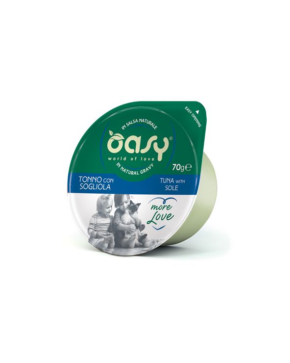 Oasy Cat More Love Tonno con Sogliola Cup in Salsa 70 g