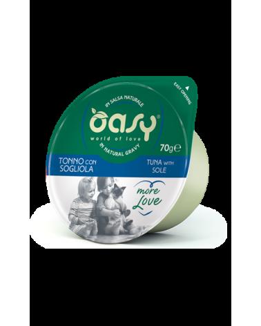 Oasy Wet Cat More Love Green Cup - Tonno con Sogliola
