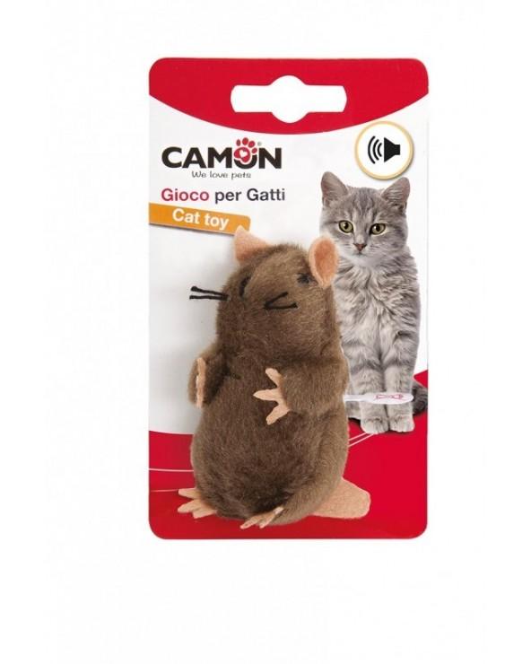 Camon Gioco per Gatti Talpa Peluche con Microchip e Catnip