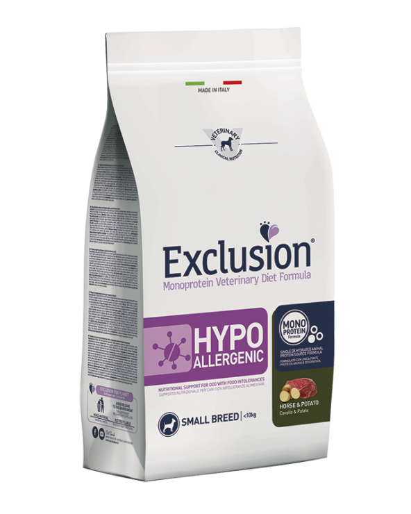 Exclusion Diet Hypoallergenic Cavallo e Patate Small Breed 2 kg