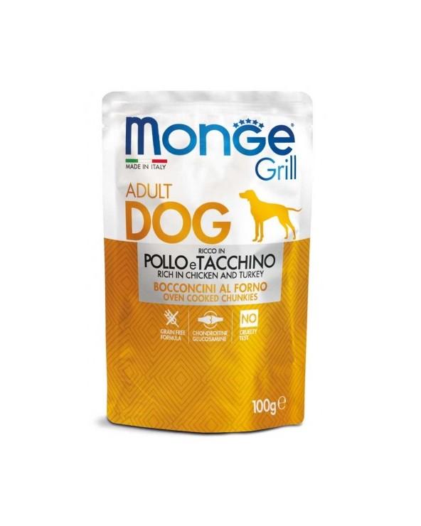 Monge Grill Bocconcini in Jelly con Pollo e Tacchino 100 g