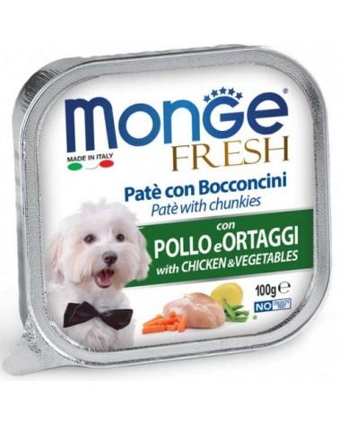 Monge Fresh Paté e Bocconcini con Pollo e Ortaggi 100 g