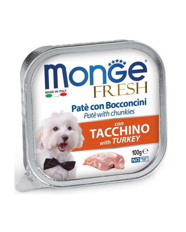 Monge Fresh Paté e Bocconcini con Tacchino 100 g
