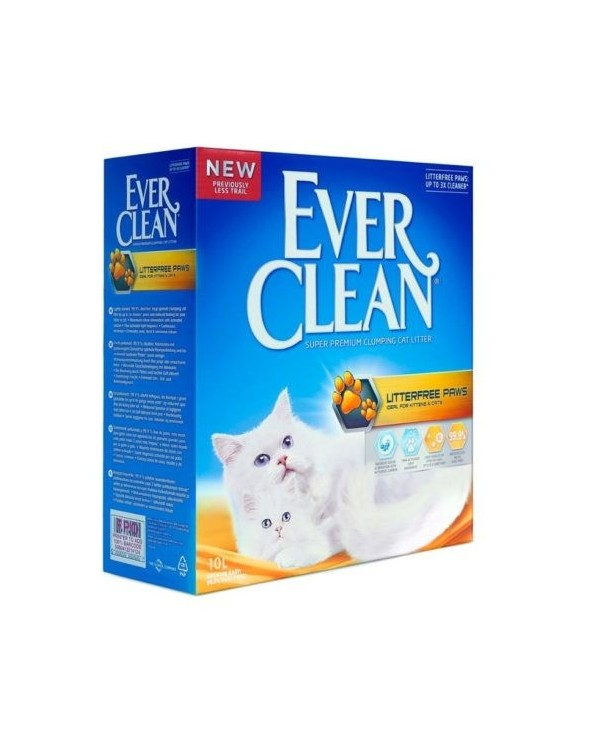 Ever Clean Lettiera Agglomerante per Gatti Litterfree Paws 10 Lt