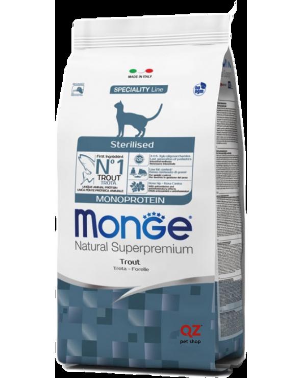 Monge Cat Sterilised Monoproteico Trota 10 kg