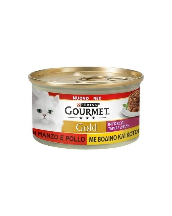 Gourmet Gold Intrecci di Gusto Manzo e Pollo 85 g