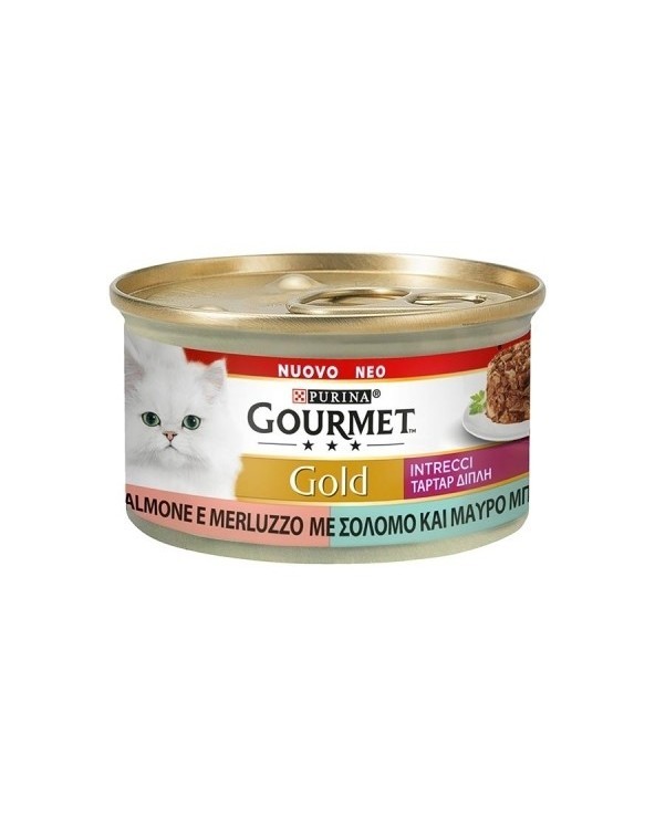 Gourmet Gold Intrecci di Gusto Salmone e Merluzzo 85 g