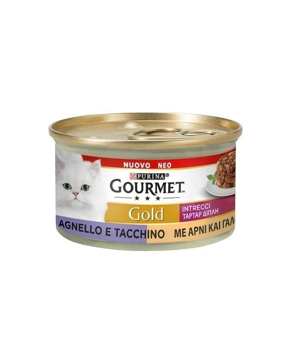 Gourmet Gold Intrecci di Gusto Tacchino e Agnello 85 g