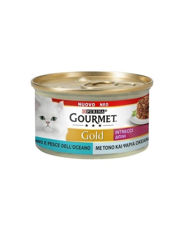 Gourmet Gold Intrecci di Gusto Tonno e Pesce Dell'Oceano 85 g