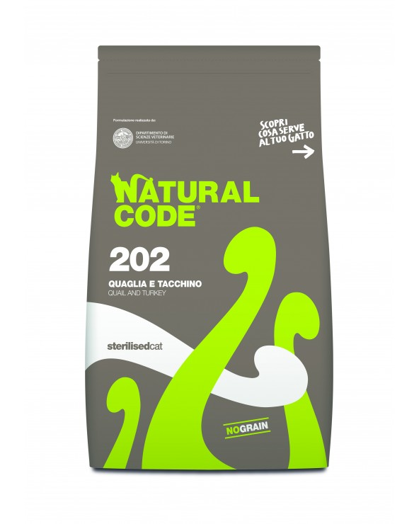 Natural Code Cat 202 Adult Sterilised Quaglia e Tacchino 300 g