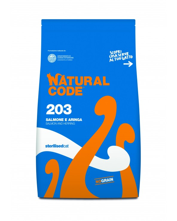 Natural Code Cat 203 Adult Sterilised Salmone e Aringa 1.5 kg