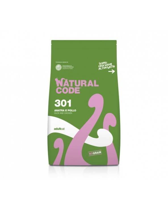 Natural Code Cat 301 Adult Anatra e Pollo 300 g