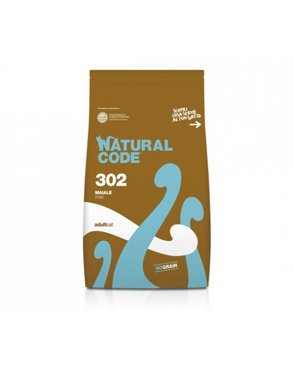 Natural Code Cat 302 Adult Maiale NO Grain 300 g