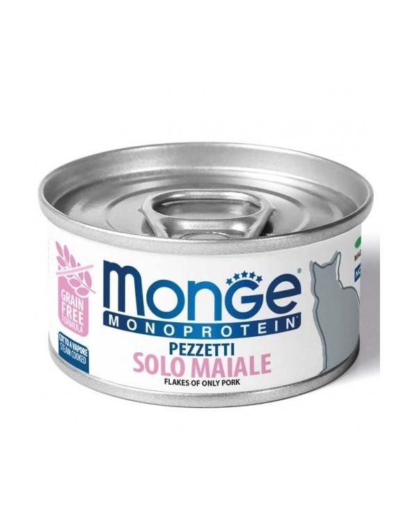 Monge Cat Pezzetti Monoprotein Solo Maiale 80 g