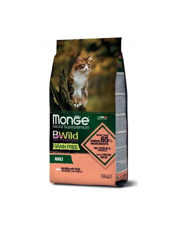 Monge Cat BWild Grain Free Adult con Salmone e Piselli 1.5 kg