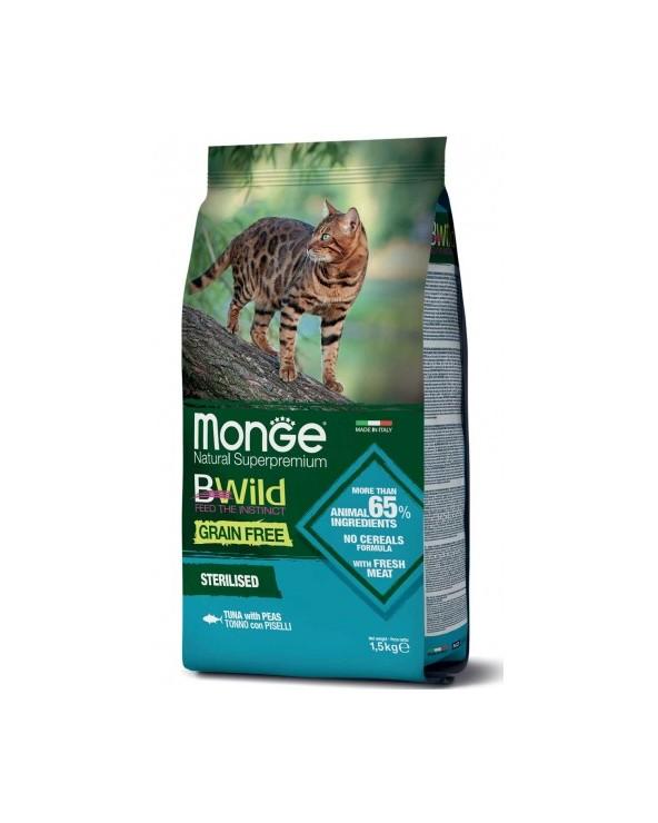 Monge Cat BWild Grain Free Adult Sterilised con Tonno e Piselli 1.5 kg
