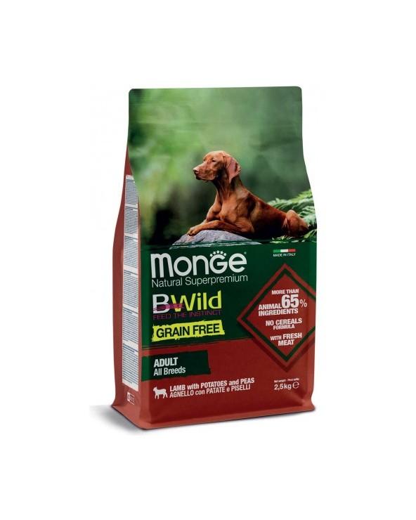 Monge Dog BWild Grain Free Adult All Breed con Agnello Patate e Piselli 12 kg