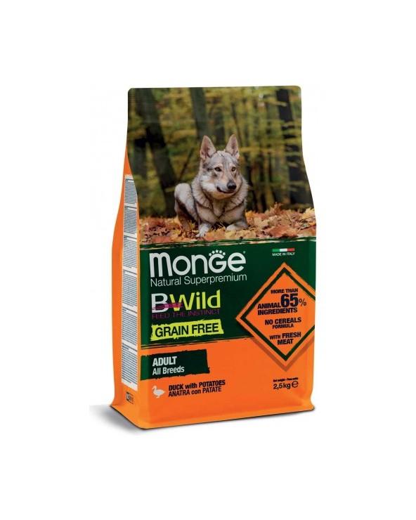 Monge Dog BWild Grain Free Adult All Breed con Anatra e Patate 12 kg