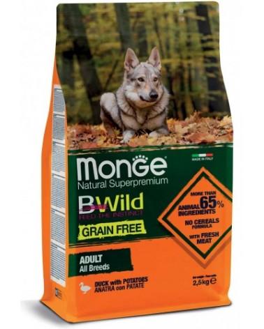 Monge Dog BWild Grain Free Adult All Breed con Anatra e Patate 2.5 kg