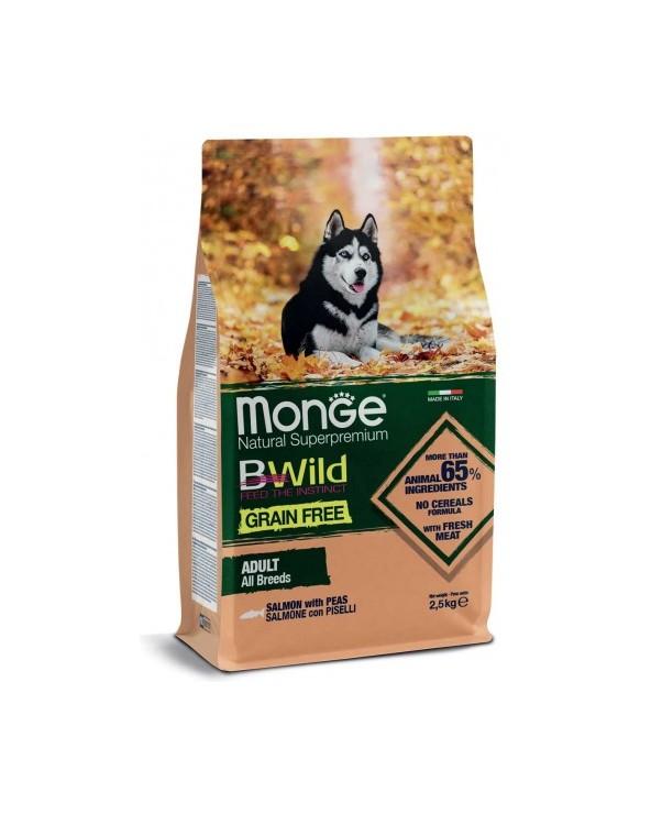 Monge Dog BWild Grain Free Adult All Breed con Salmone e Piselli 2.5 kg