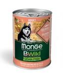 Monge Dog BWild Grain Free Adult All Breed con Salmone Zucca e Zucchine Bocconi in Salsa 400 g