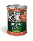 Monge Dog BWild Grain Free Adult All Breed con Tacchino Zucca e Zucchine Bocconi in Salsa 400 g