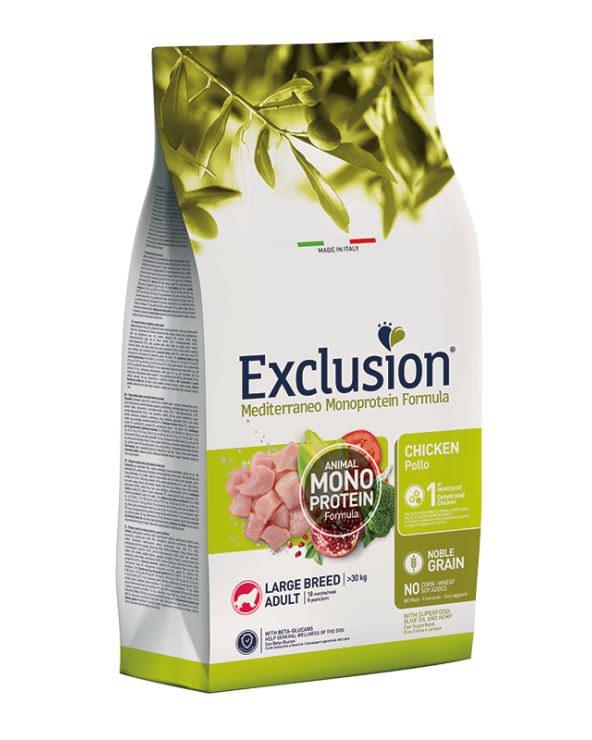 Exclusion Mediterraneo Noble Grain Adult Large Pollo 12 kg