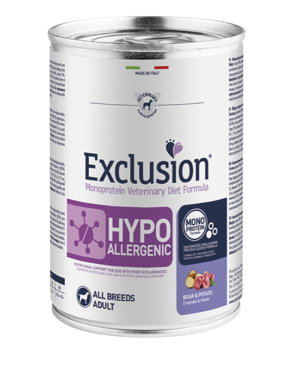 Exclusion Diet Hypoallergenic Cinghiale e Patate Umido 400g