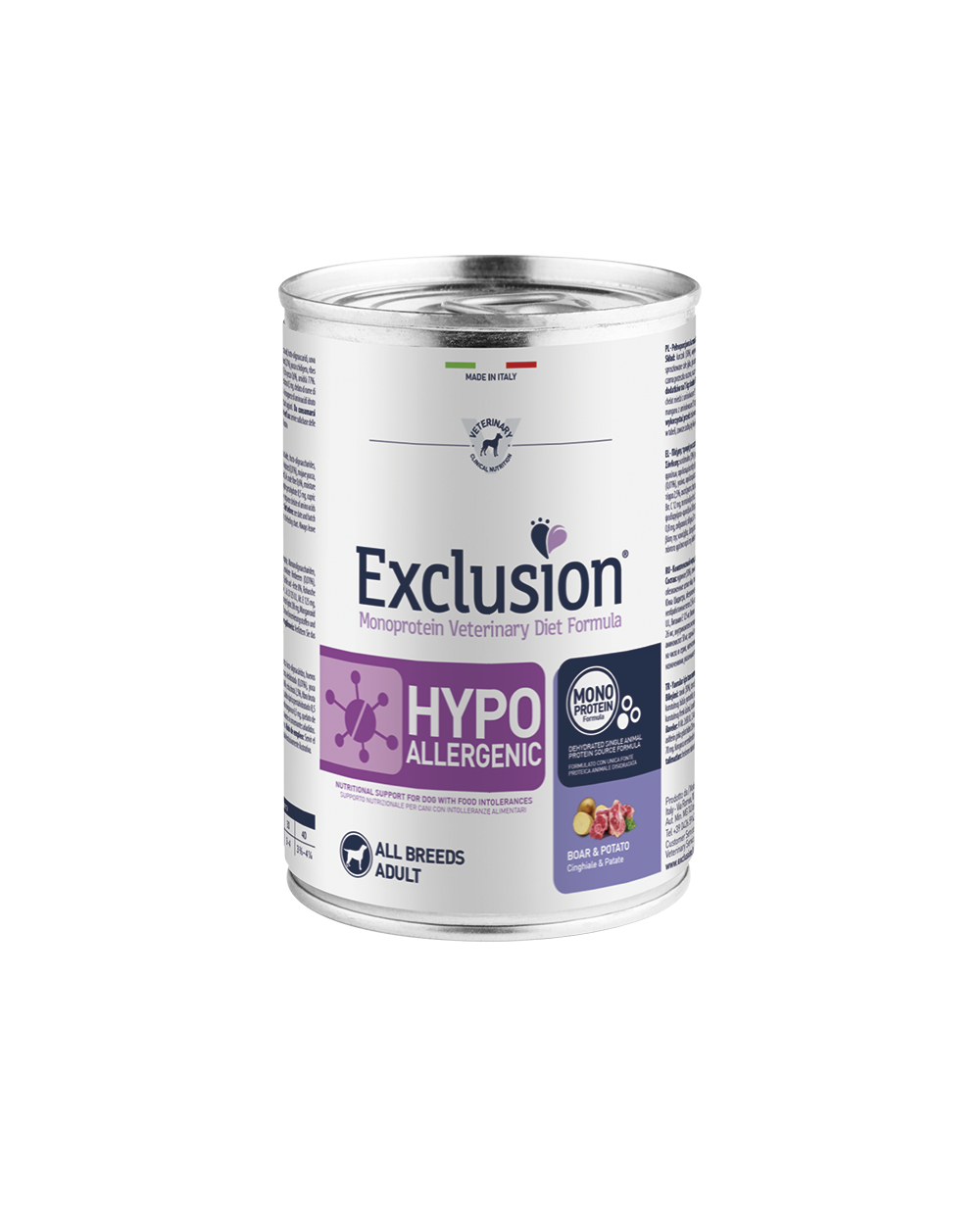 Exclusion Diet Hypoallergenic Cinghiale e Patate Umido