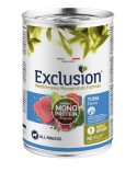 Exclusion Dog Mediterraneo Noble Grain Adult All Breeds Monoproteico Tonno Lattina in Patè 400 g