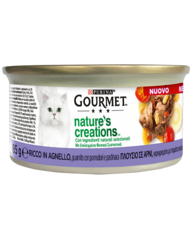 Gourmet Nature's Creations Agnello Guarnito con Pomodori e Pastinaca Lattina 85 g