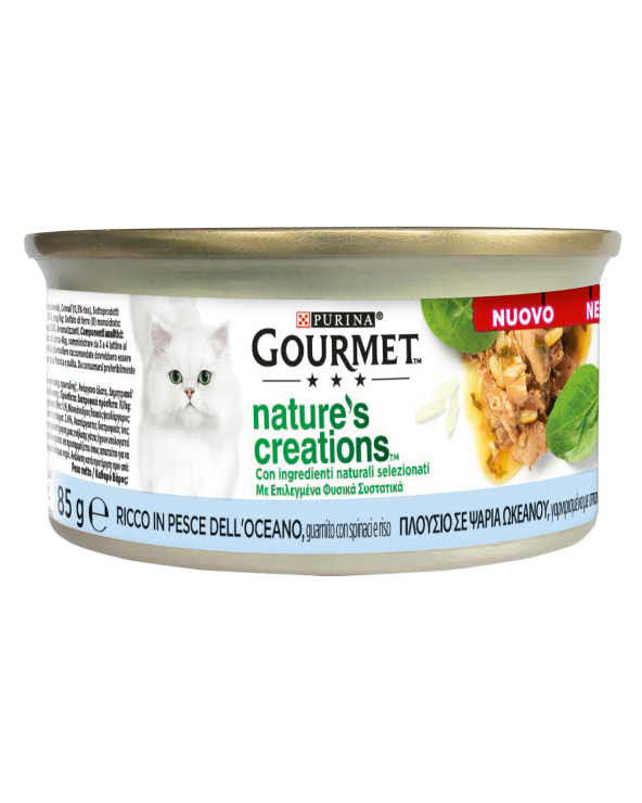 Gourmet Nature's Creations Tonno Guarnito con Pomodori e Riso Lattina 85 g