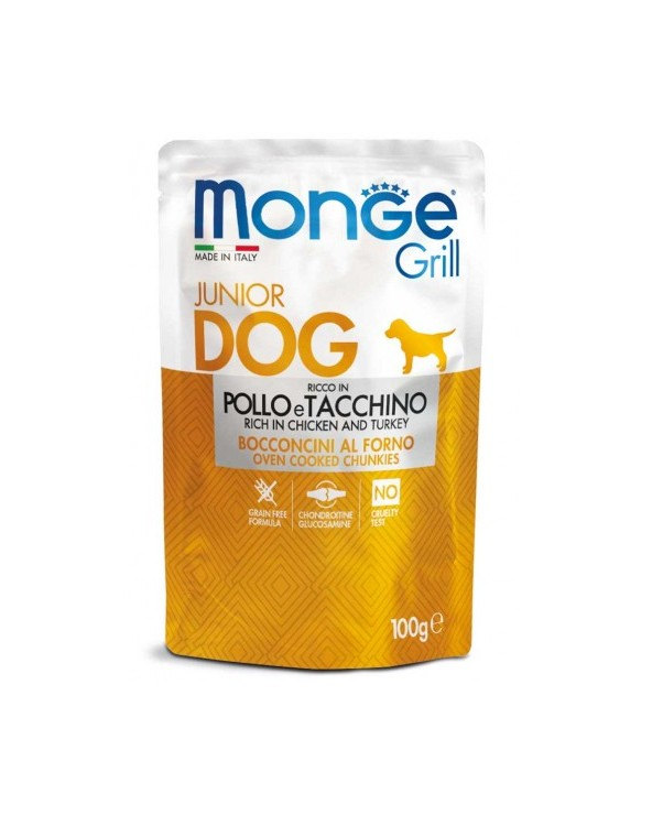 Monge Grill Bocconcini in Jelly Puppy e Junior con Pollo e Tacchino 100 g