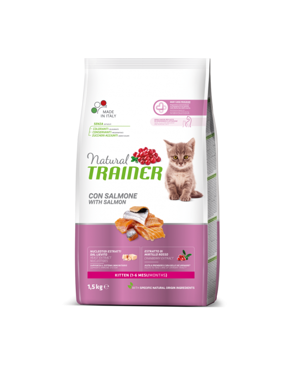 Natural Trainer Kitten con Salmone 1.5 kg