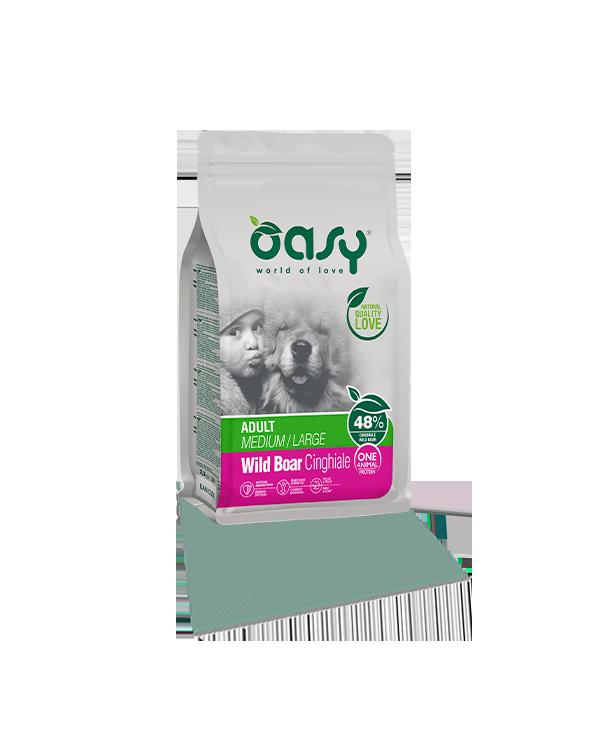 Oasy Dog OAP Adult Medium e Large Cinghiale Selvatico 2.5 kg